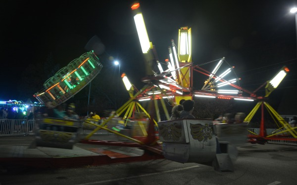 Carnival ride on campus