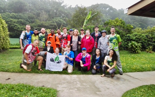 Students on the 2019 Tropical Ecology Course in Costa Rica