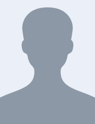 A silhouette headshot placeholder image