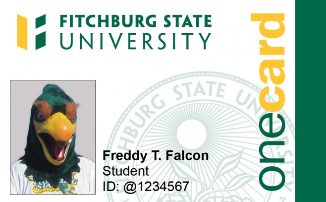 A larger photo of Freddy the Falcon on our OneCard