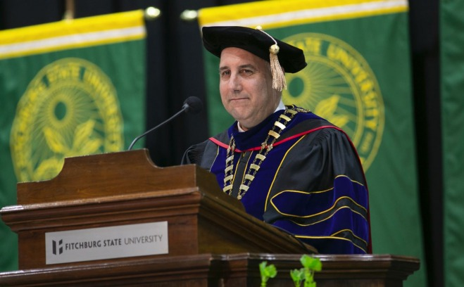President Lapidus addresses the Class of 2018