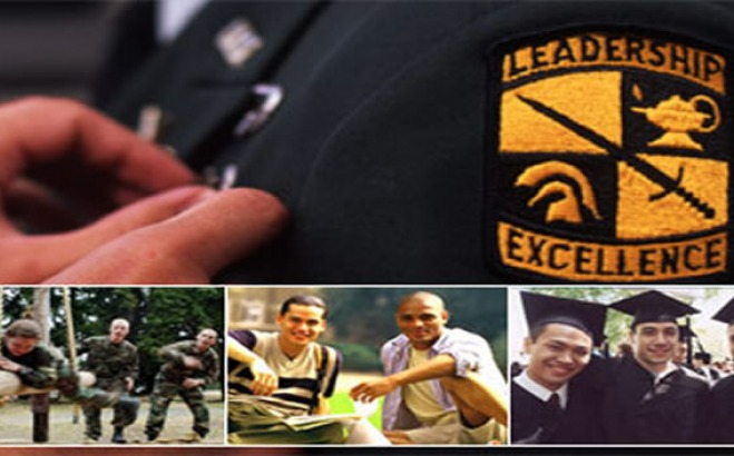 Leadership and Excellence badge on uniform