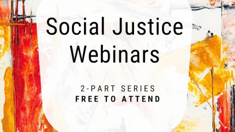 Poster for social justice webinars at Center for Professional Studies 2020