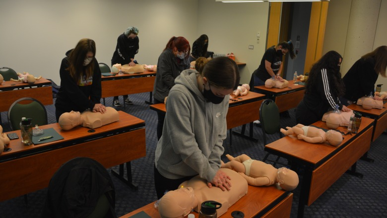 CPR class for Future Educator Academy