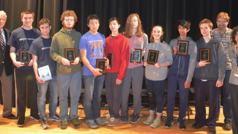 Mathematics competition shows high school talent