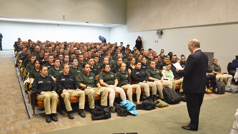 Police Program students get look at domestic violence