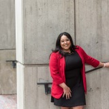 Alexandra Valdez '15 at Boston City Hall