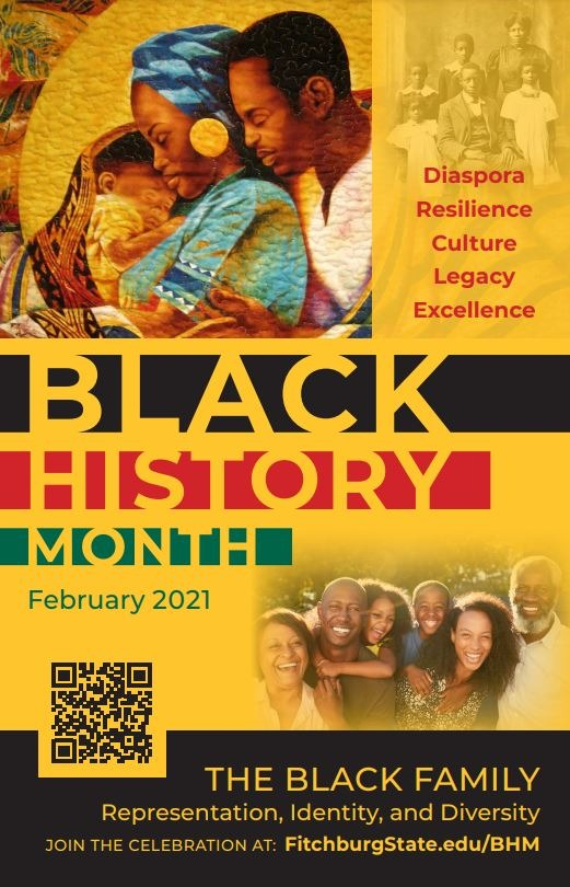 Poster advertising Black History Month, February 2021