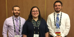 Kayla Kress, Jacob Hogue, and Samuel Gallagher at the Regional GIS Conference