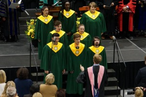 Students performing in the Chamber Choir