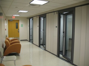 Practice rooms at Fitchburg State University