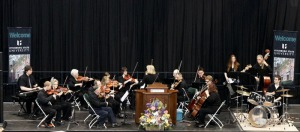 The Fitchburg State Community Orchestra performing