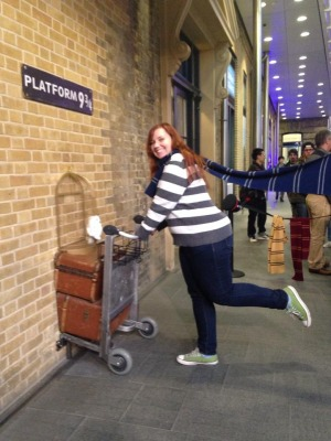 Student at Platform 9 3/4 in London