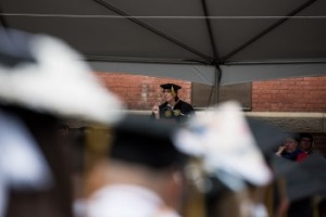 Barbara Wilson delivers the commencement address