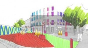 Colorful illustration of Mill Street