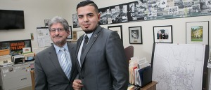 Alexander Ramos with Stephen DiNatale, in DiNatale's office