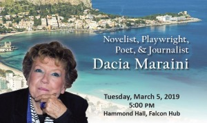 Dacia Maraini will speak at Fitchburg State on March 5, 2019.