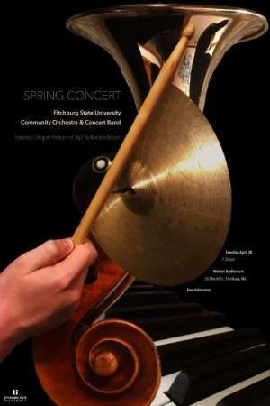 Poster for the Spring Concert band and Orchestra performance