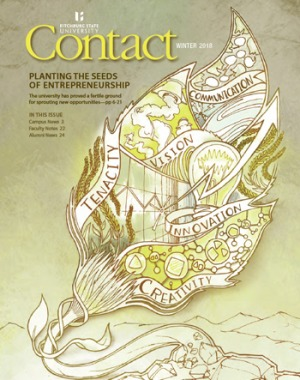 The winter 2018 cover of Contact magazine