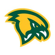 The Fitchburg State University falcon head logo