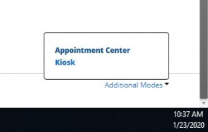 "A screenshot showing the ""Appointment Center"" link."
